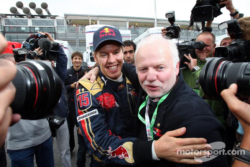 Sebastian Vettel mit seinem Vater Norbert