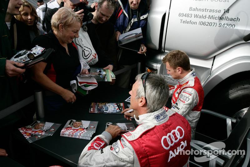 Autograph session: Allan McNish and Rinaldo Capello