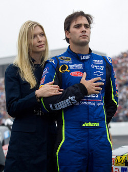 Jimmie Johnson and wife Chandra