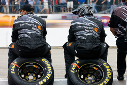 The Carhartt Crew watches the race