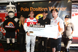 Jamie Whincup wins race two and takes pole with co driver Craig Lowndes for the LandH 500 (TeamVodaf