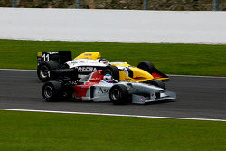 #1 Klaas Zwart (NL) Ascari, F1 Benetton B197 Judd 4.0 V10, and #11 Walter Colacino (I) Scuderia Grifo Corse, IRL G-Force Chevy 3.5 V8