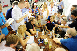 Sebastian Vettel giving an interview