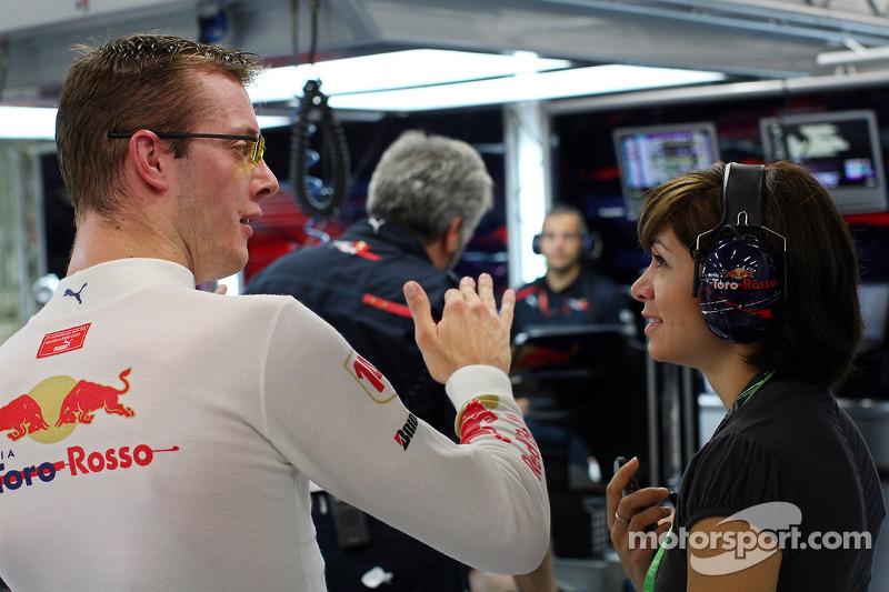 Sébastien Bourdais, Scuderia Toro Rosso, mit Ehefrau Claire