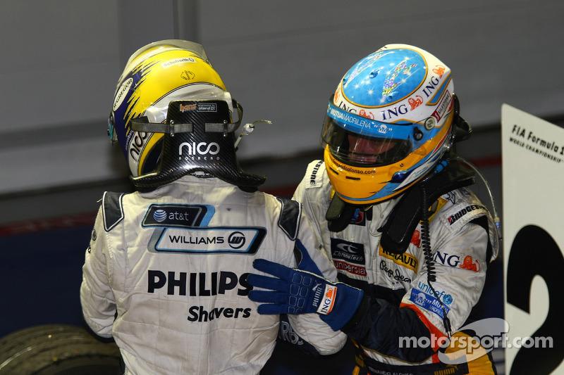 Sieger Fernando Alonso; 2. Nico Rosberg