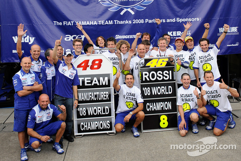 Yamaha are 2008 manufacturer champions too