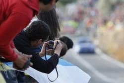 Fans shoot photos