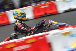 Kart Race in Jingu Gaien, Sébastien Bourdais, Scuderia Toro Rosso