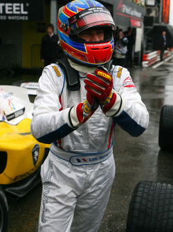 Race winner Loic Duval, driver of A1 Team France