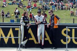 Paul Dumbrell and Rick Kelly relax