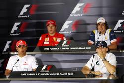 FIA Thursday press conference: Lewis Hamilton, McLaren Mercedes, Kimi Raikkonen, Scuderia Ferrari, Robert Kubica,  BMW Sauber F1 Team, Fernando Alonso, Renault F1 Team