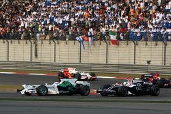 Jenson Button, Honda Racing F1 Team, RA108, Kazuki Nakajima, Williams F1 Team, FW30