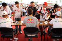 Jenson Button, Mark Webber and Rubens Barrichello