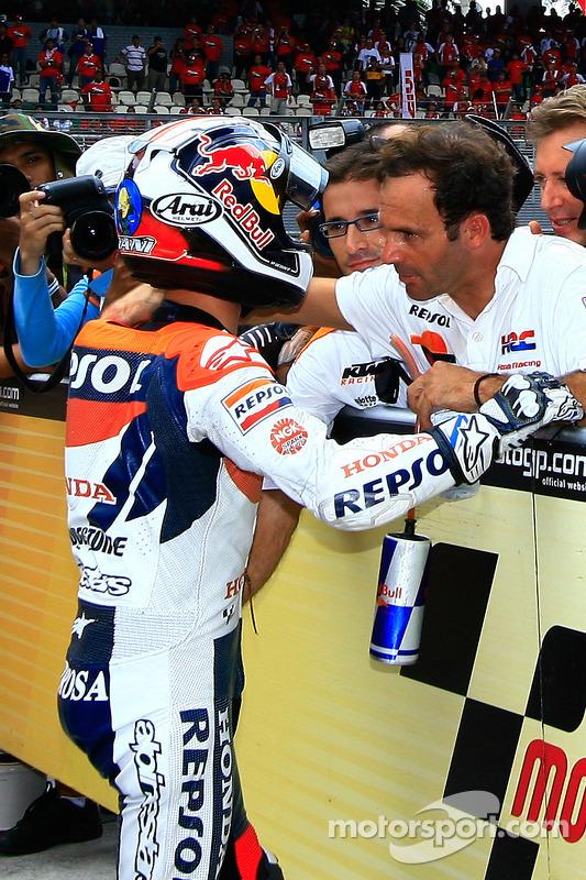Dani Pedrosa con Alberto Puig