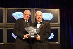 Doug Fehan, Gray Pratt  accepting Corvette Racing GT1 team championship award