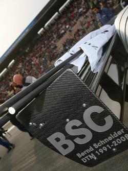 Sign for Bernd Schneider, Team HWA AMG Mercedes, AMG Mercedes C-Klasse