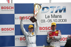 Podium: race winner Mattias Ekström, second place Paul di Resta