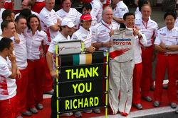 Jarno Trulli, Toyota F1 Team, Timo Glock, Toyota F1 Team, John Howett, Toyota Racing, President TMG
