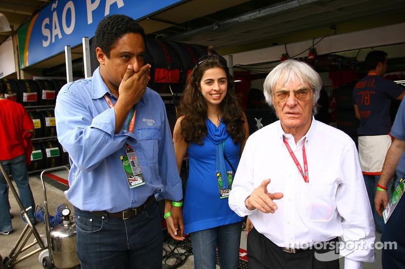 Orlando Silva com Bernie Ecclestone