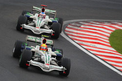 Rubens Barrichello, Honda Racing F1 Team, RA108 and Jenson Button, Honda Racing F1 Team, RA108