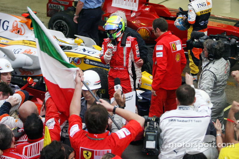 Race winner Felipe Massa