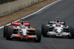 Adrian Sutil, Force India F1 Team, Robert Kubica, BMW Sauber F1 Team