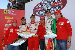 Sunday Coppa Shell race: the podium