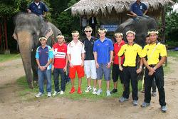 A1 Drivers at the Gandah Elephant Orphanage