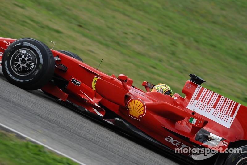 Valentino Rossi au volant de la Ferrari F2008 au Mugello, en 2008
