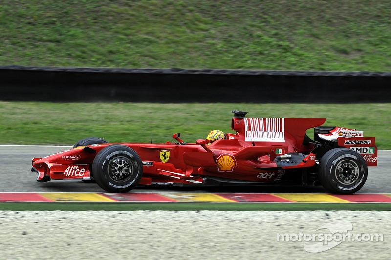 Fiorani 2008: Valentino Rossi met de Ferrari F2008