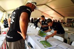 Launceston, Australia: competitors mark up their course maps
