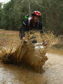 Launceston, Australia: David Crawshay of Team Cascade Green in action