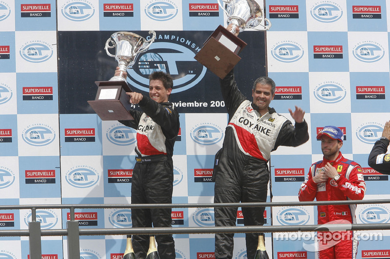 GT2 podium: class winners Matias Russo and Luis Perez Companc