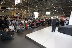 Shortly before the Audi R8 LMS is unveiled during the Essen Motor Show