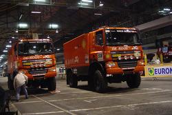 Team de Rooy trucks goes through scrutineering
