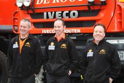 Team de Rooy: driver Toine van Oorschot, co-drivers Clim Smulders and Peter van Eerd, assistance truck #858