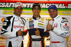 Vitantonio Liuzzi, Test Driver, Force India F1 Team Lucas Di Grassi Test Driver, Renault F1 Team and Rubens Barrichello, Honda Racing F1 Team