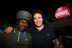 Norman J, DJ with Rhys Edwards on the Fly Kingfisher boat party on the Indian Empress