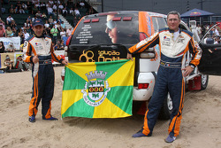 Car category podium: Adelio Machado and Laurent Flament