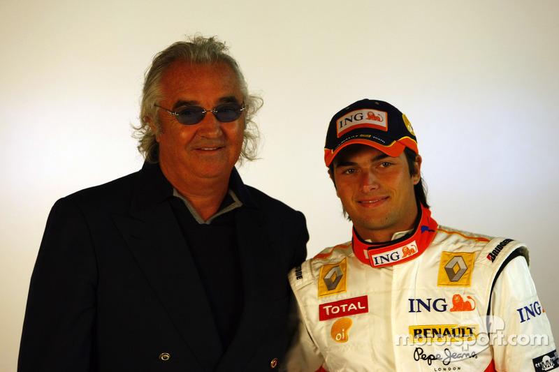 Flavio Briatore ve Nelson A. Piquet