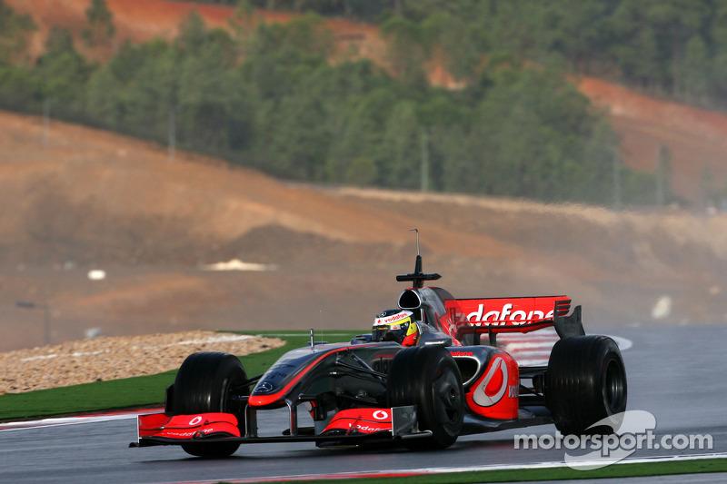 Pedro de la Rosa, Test Driver, McLaren Mercedes, in the new MP4-24