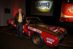 Bobby Allison, poses after Lowe's Motor Speedway officials announce Allison will be the Grand Marshal for the 50th Anniversary of the Coca-Cola 600