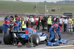 Dan Clarke , driver of A1 Team Great Britain