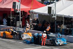 Michael Shank Racing pit area