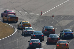 GS start: #59 Rehagen Racing Ford Mustang GT: Dean Martin, Larry Rehagen, #91 Automatic Racing BMW M3 Coupe: David Russell, Joe Varde lead the field