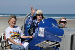 Living legends of auto racing beach parade: Ray Fox