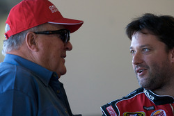 Racing legend A.J. Foyt and Tony Stewart, Stewart-Haas Racing Chevrolet