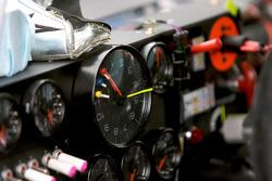 Cockpit of the Hendrick Motorsports Chevrolet of Jimmie Johnson
