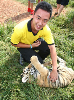 Aaron Lim, driver of A1 Team Malaysia at the Rhino and Lion Nature Reserve