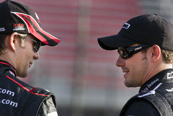 Jeff Gordon, Hendrick Motorsports Chevrolet and Casey Mears, Richard Childress Racing Chevrolet